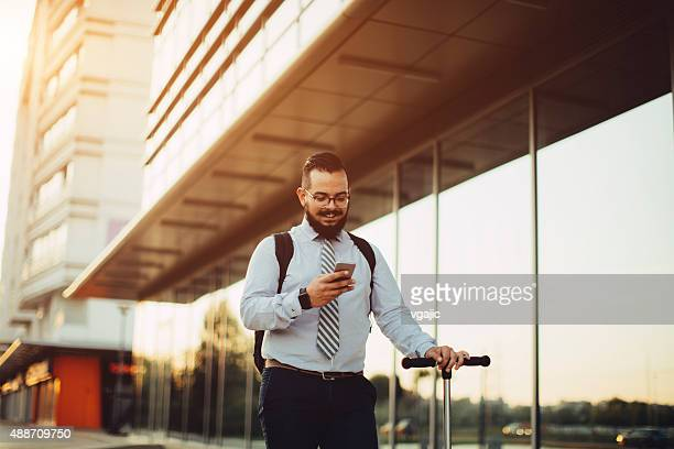 Businessman Using His Smart Phone.