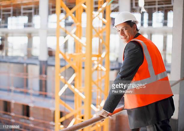 Businessman viewing construction site