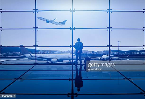 Businessman Waiting Departure