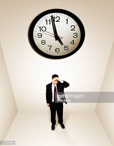 Businessman Waiting For Five O'clock