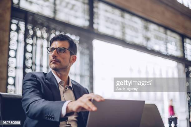 Businessman waiting his ride