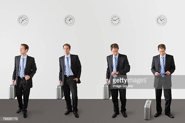 Homme d'affaires en attente
