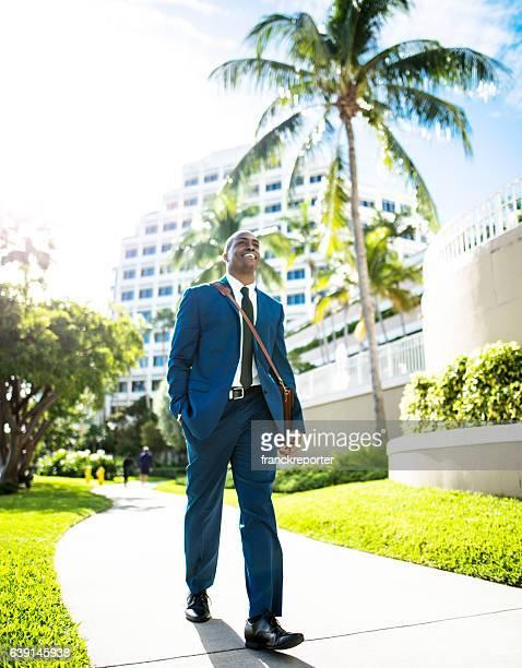 businessman walking in brickell Miami