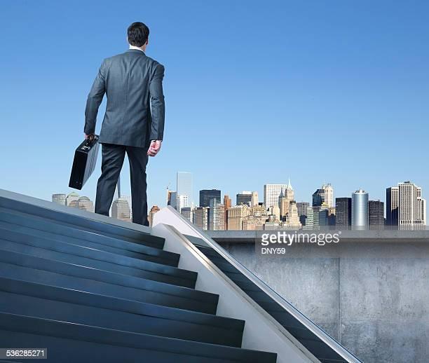 Businessman Walking To Work