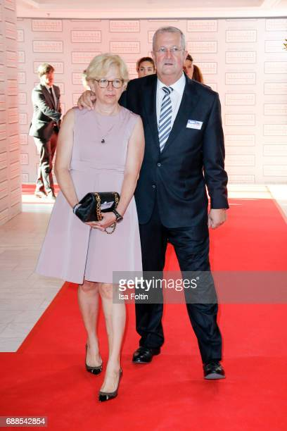 Businessman Wendelin Wiedeking and his wife Ruth Wiedeking during the German Media Award 2016 at Kongresshaus on May 25 2017 in BadenBaden Germany...