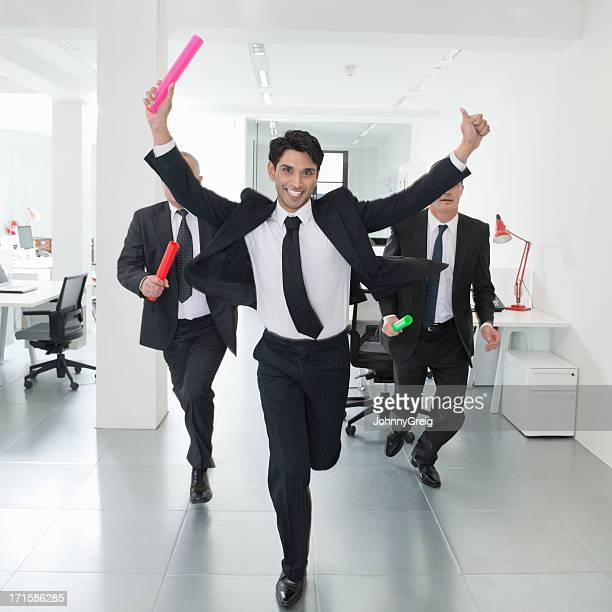 Businessman Winning Office Race
