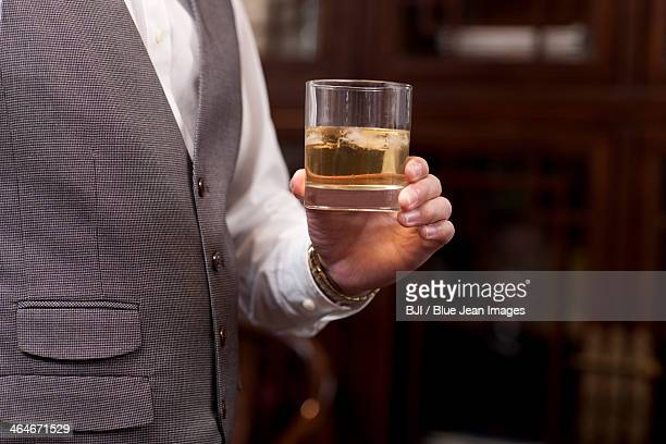 Businessman with a glass of wine