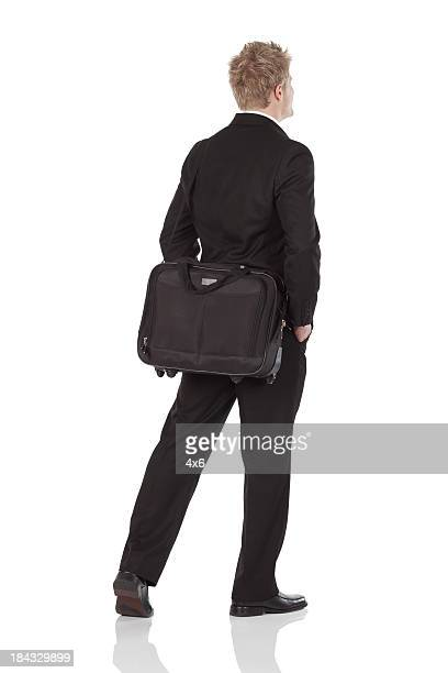 Businessman with a shoulder bag