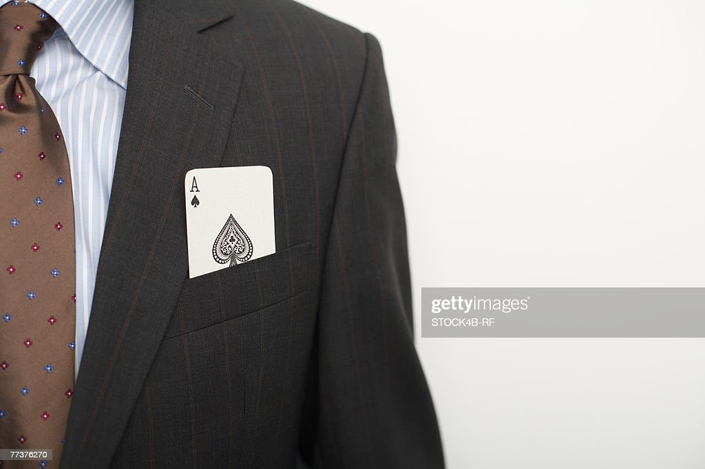 Businessman with an ace in pocket : Photo