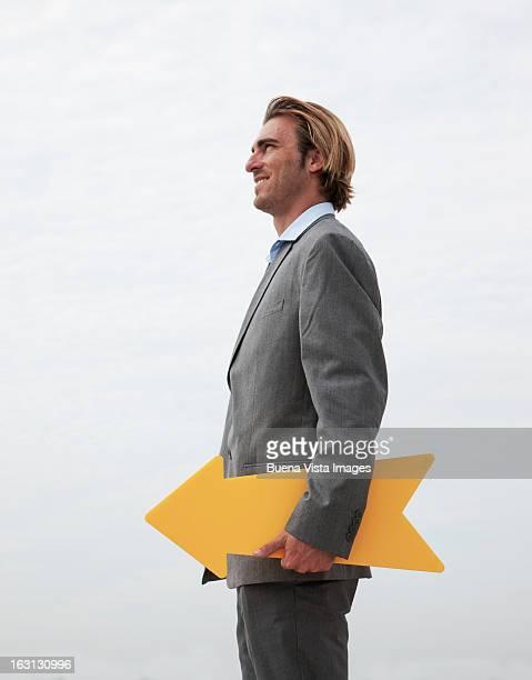 businessman with an arrow
