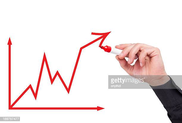 Businessman with an Business Graph