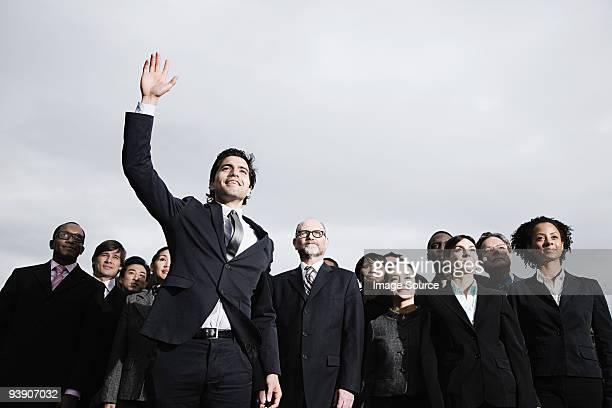 arm 盛り上がったビジネスマン