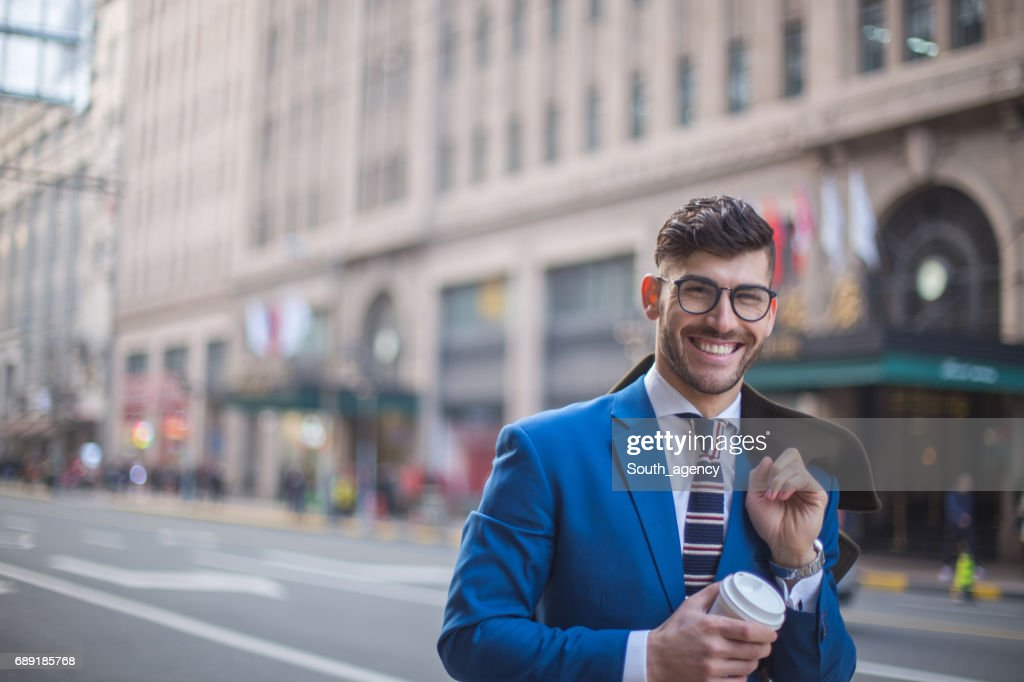 Businessman with glasses : Stock Photo