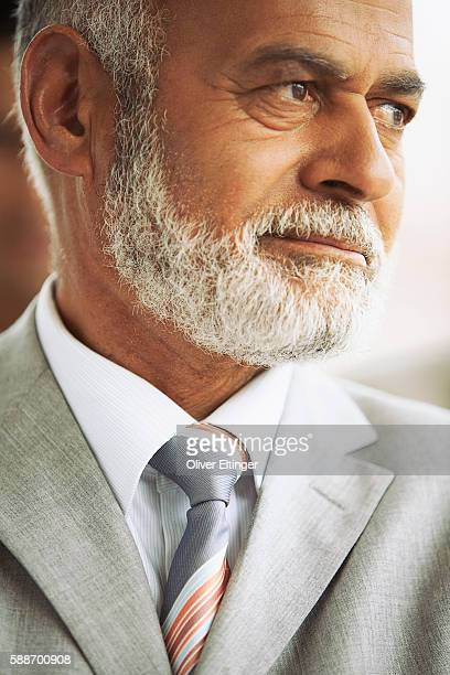 businessman with gray beard - oliver eltinger stock-fotos und bilder