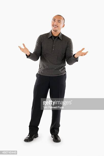 Businessman with Hands Outstretched