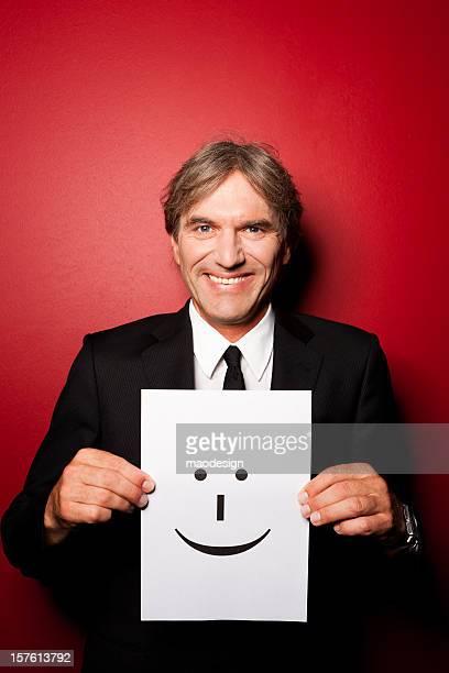 Heureux Homme d'affaires avec visage expressif Portrait