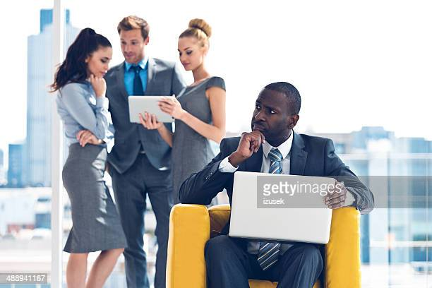 businessman with laptop - izusek stock pictures, royalty-free photos & images
