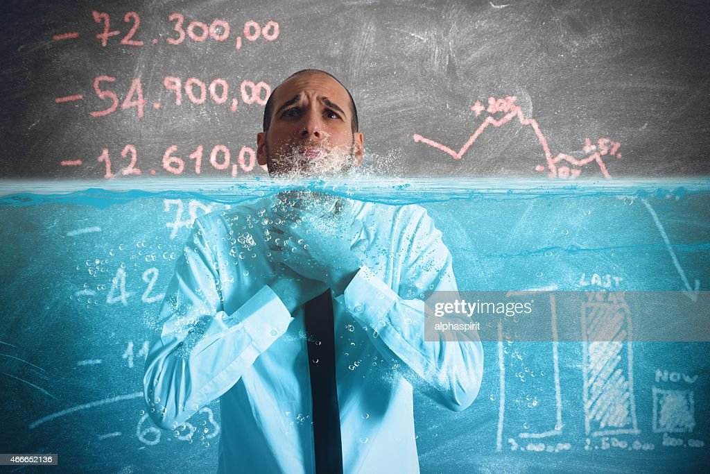 Businessman with little time : Stockfoto