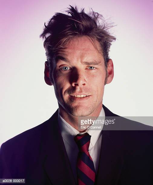 businessman with messy hair - bad hair stock pictures, royalty-free photos & images