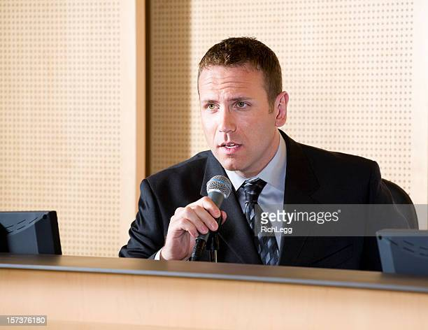 Businessman with Microphone