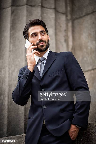 Businessman with mobile smart phone