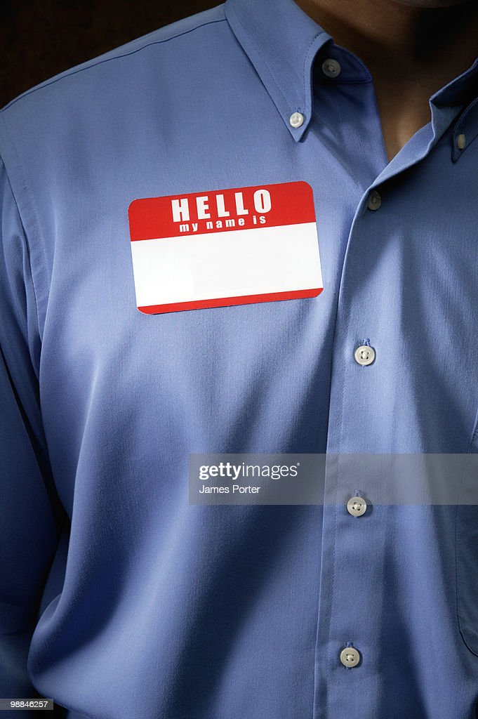 Businessman with name tag : Stock Photo