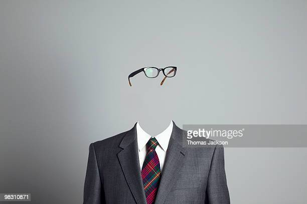 businessman with no face, looking right - obscured face stock pictures, royalty-free photos & images