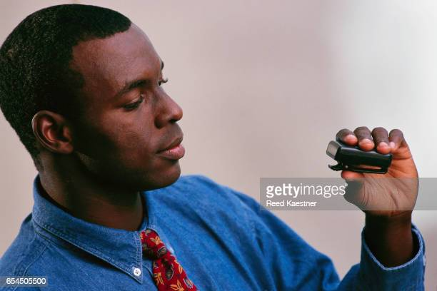 Businessman with Pager