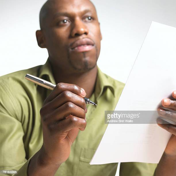 Businessman with paperwork