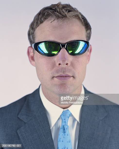 businessman with sun glasses, portrait, close-up - tinted sunglasses stock pictures, royalty-free photos & images