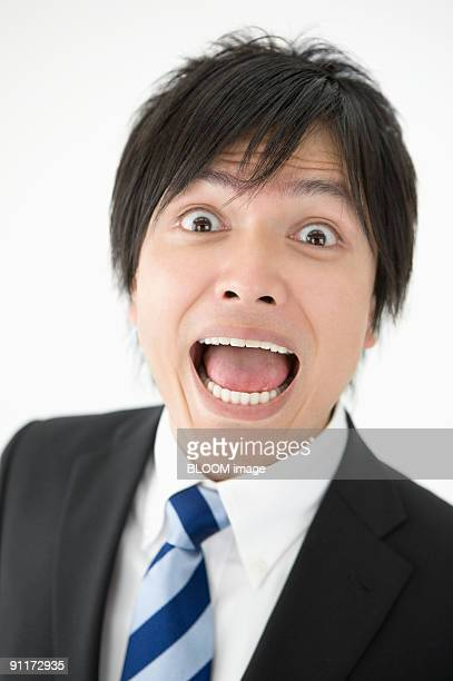 Businessman with surprised expression