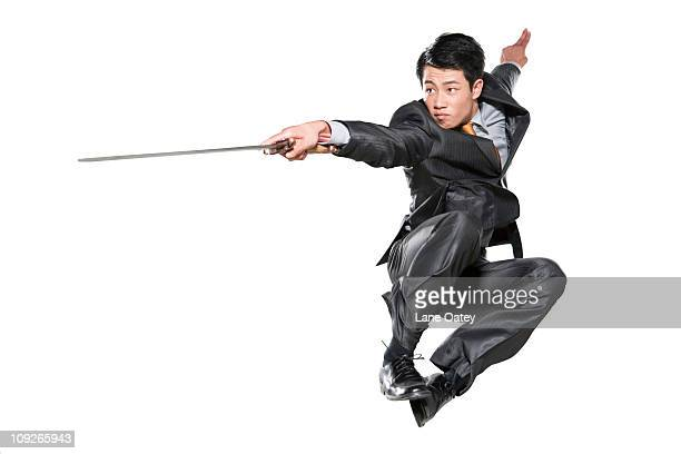 Businessman with sword