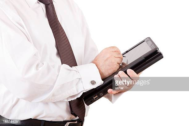 businessman with tablet-pc in hands