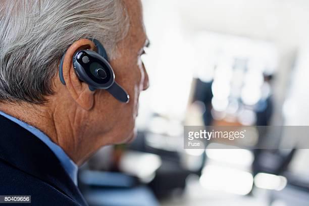 Businessman with Wireless Headset