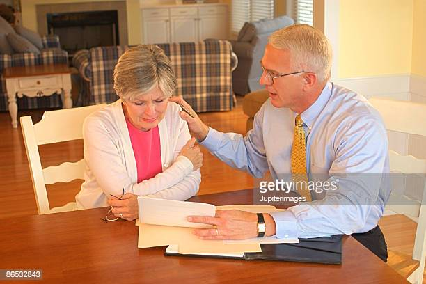 Businessman with woman
