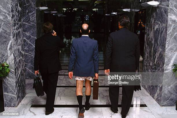 Businessman without his pants