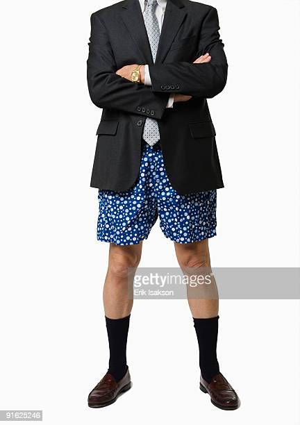 a businessman without pants - boxershort stock pictures, royalty-free photos & images