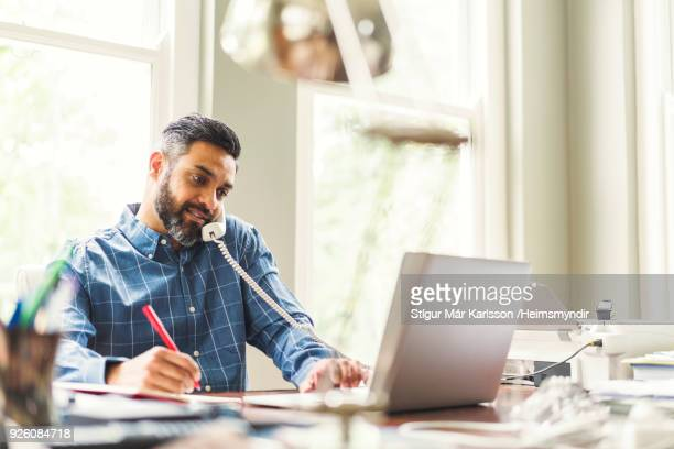 businessman working in home office - remote work stock pictures, royalty-free photos & images