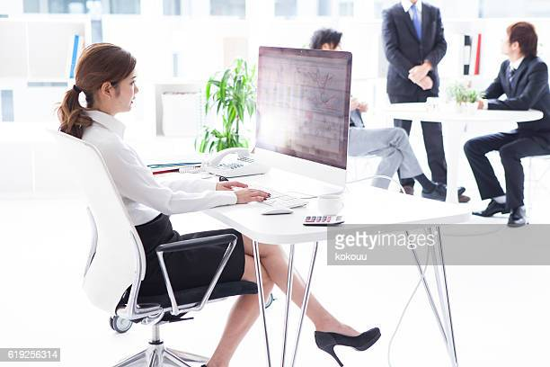 Businessman working in modern office