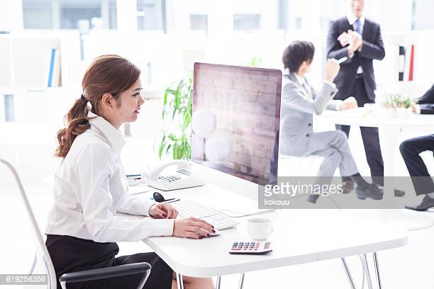 Businessman working in stylish office