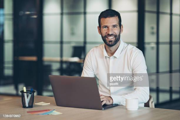 businessman working in the office - executive director stock pictures, royalty-free photos & images