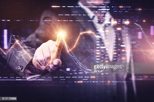 Businessman working with modern computer