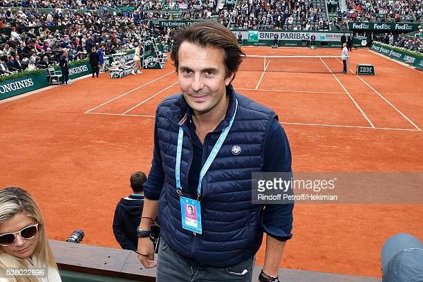 Businessman Yannick Bollore attends Day Fourteen Women single's Final of the 2016 French Tennis Open at Roland Garros on June 4 2016 in Paris France