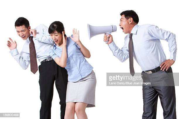 Businessman Yelling at Colleague