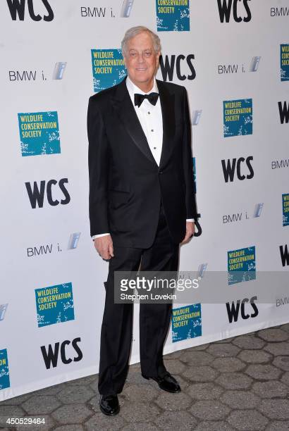 Businessman/politcal activist David Koch attends the 2014 Wildlife Conservation Society Gala at Central Park Zoo on June 12 2014 in New York City