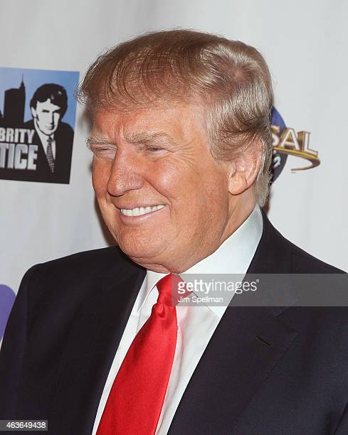 Businessman/tv personality Donald Trump attends 'The Celebrity Apprentice' season finale at Trump Tower on February 16 2015 in New York City