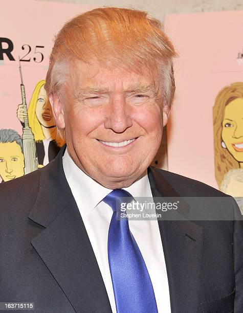 Businessman/TV personality Donald Trump attends The New York Observer 25th Anniversary Party at Four Seasons Restaurant on March 14 2013 in New York...