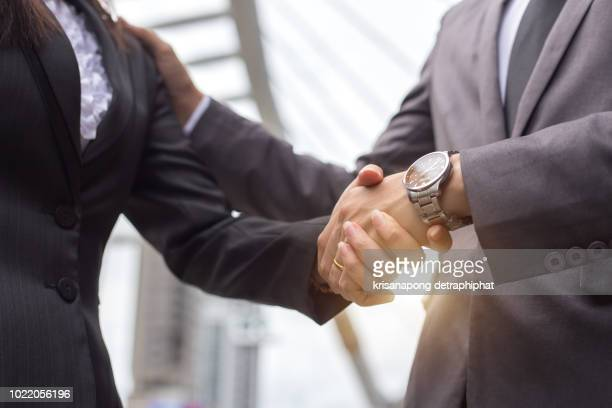 businessmen concept,businessmen shake hands, encourage work - respect stock pictures, royalty-free photos & images