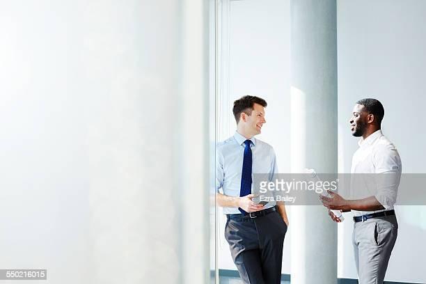 Businessmen discussing plans