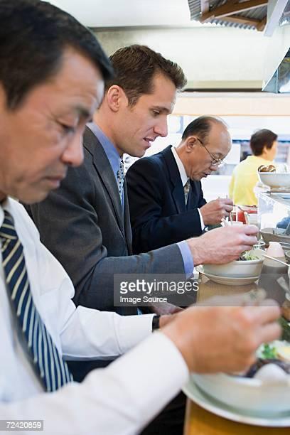 ビジネスマンお食事